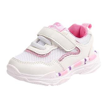 84adc3ccf19d0 Bébé Enfants Garçons Filles Sneaker Basket Basses Sport Chaussures Mode  Respirant Amortisseur Maille