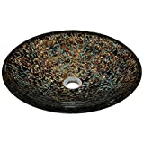 634 Hand Painted Foil Undertone Glass Vessel Sink