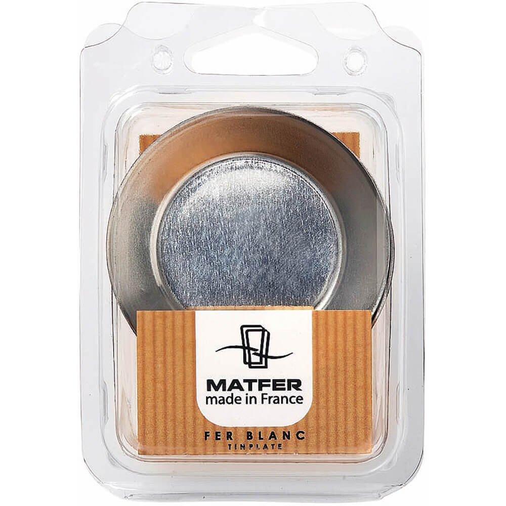 Matfer Bourgeat Tinplate Deep Small Tart Pan, 2.12'', 25PK 343563 by Matfer Bourgeat (Image #2)