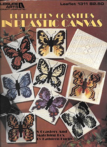 BUTTERFLY COASTERS IN PLASTIC CANVAS (Leaflet #1311) Leisure Arts