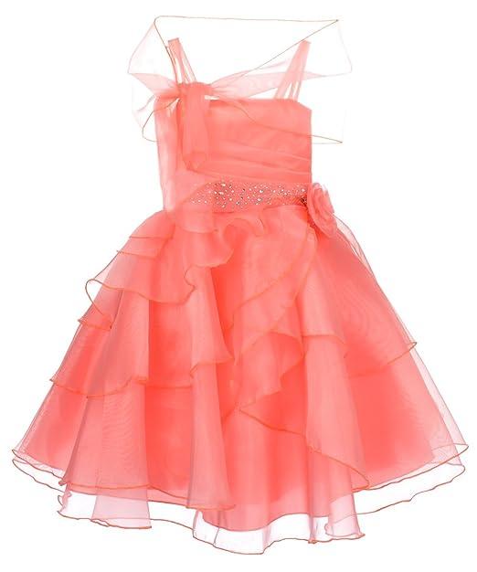 Ceci Kid Vestido Para Niña Rosa Coral Amazones Ropa Y