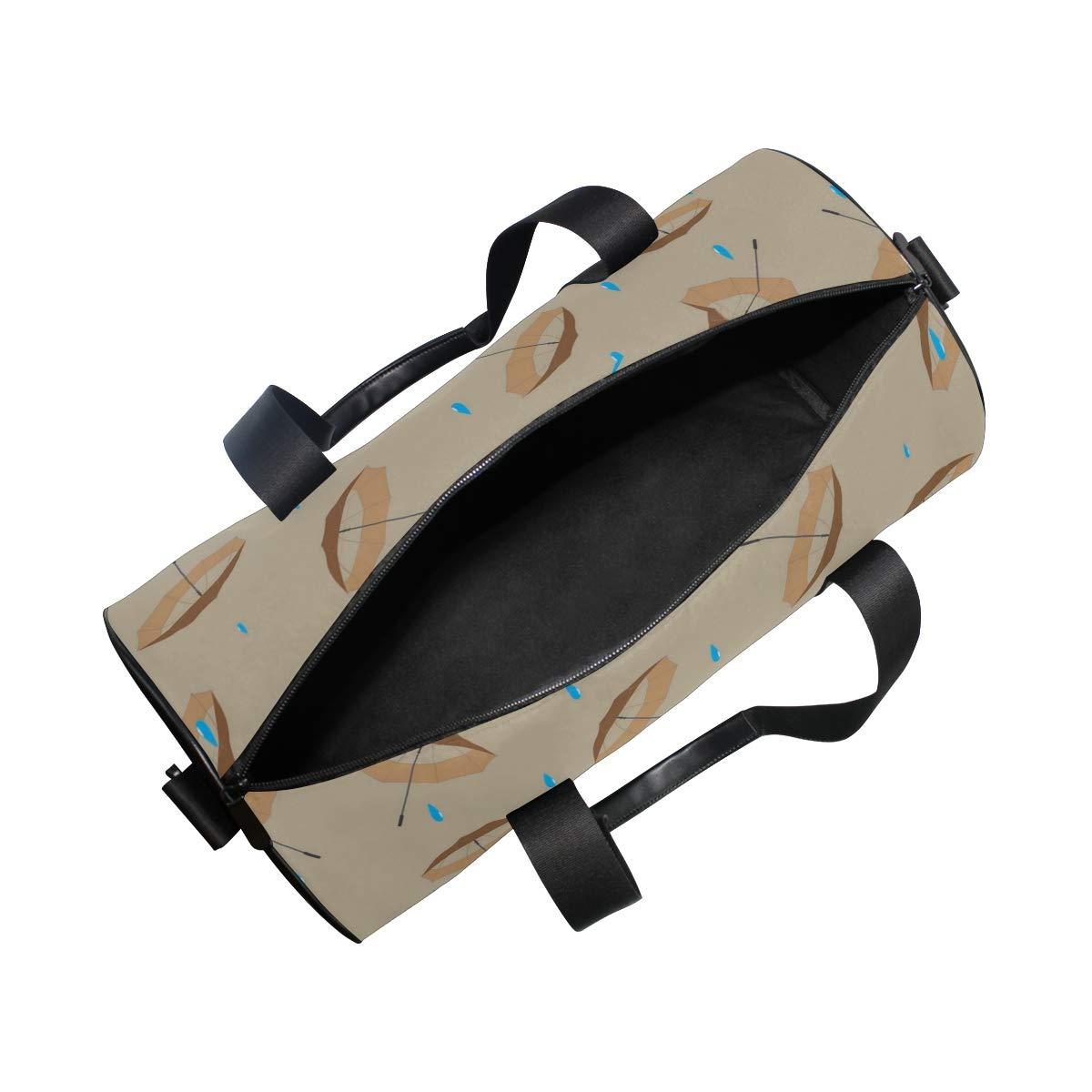 Brown Melancholy UmbrellaWaterproof Non-Slip Wearable Crossbody Bag fitness bag Shoulder Bag