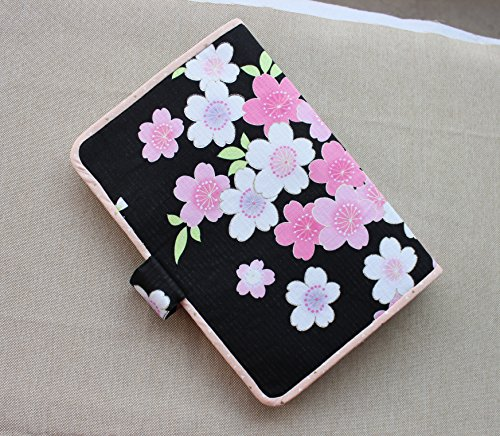 A5 Binder Handmade Multi color Black Cotton Notebook Binder Book Cover 1679