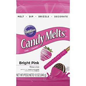 Wilton 1911-424 Candy Melts, 12-Ounce, Bright Pink