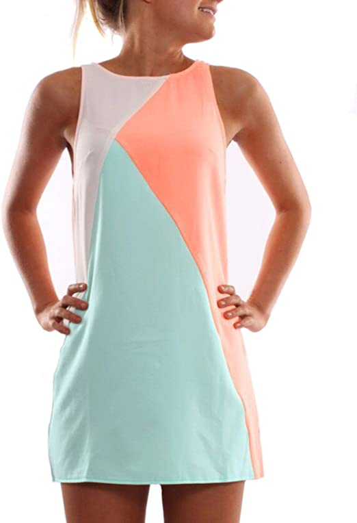 SheIn Damen Kleid Orange Orange Gr. M, Orange - Orange: Amazon.de