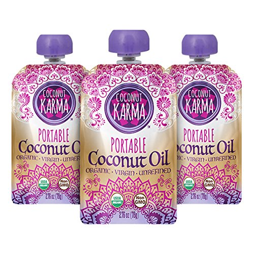 Price comparison product image Coconut Karma Organic Coconut Oil in Portable Pouch,  2.76 oz.,  3-pack)