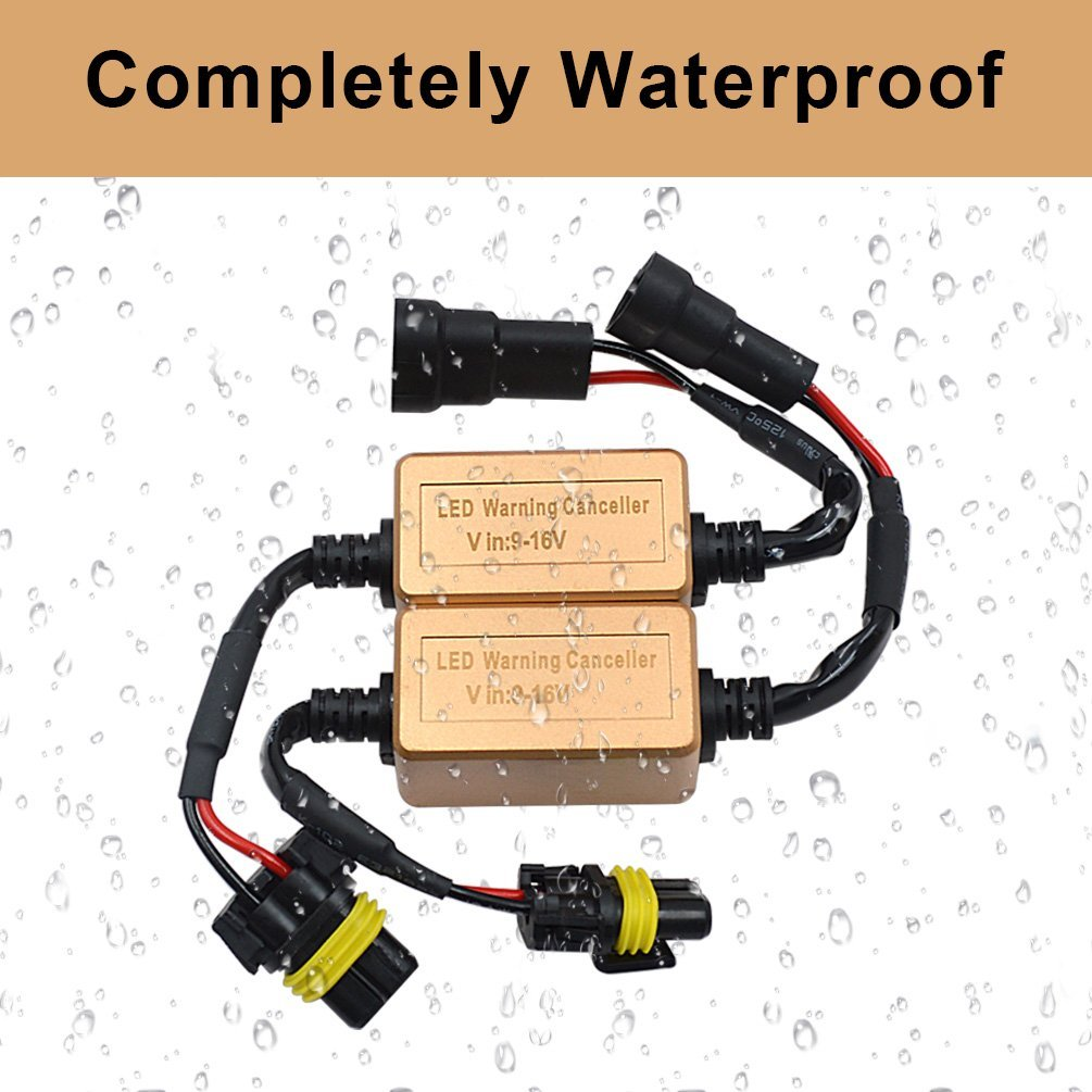 H1 H3 Canbus Resistor Computer Warning Canceller Anti Flicker Error Free Wiring Harness Adapter for LED Headlight Bulb
