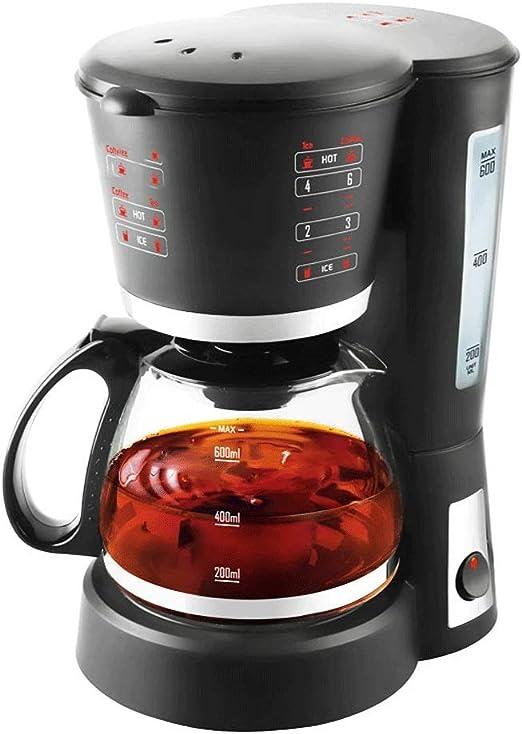 NO BRAND R-LKK Cafetera, Filtro de café de la máquina, 0.6L Capacidad Cafetera producir hasta 5 Copas, Anti-Goteo del Sistema, Filtro Reutilizable Permanente, Negro,para Espresso Cocina: Amazon.es: Hogar