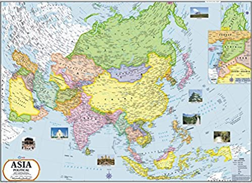 India In Asia Map.Buy Asia Map Book Online At Low Prices In India Asia Map Reviews