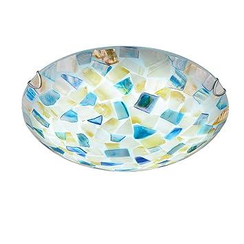 Wxan Lámpara De Techoestilo Tiffany Medio Incrustado Plafón