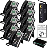 XBLUE X50 VoIP Phone System (C5009) with (9) X3030 IP Phones - Auto Attendant, Voicemail, Caller ID, Paging & Remote Phones