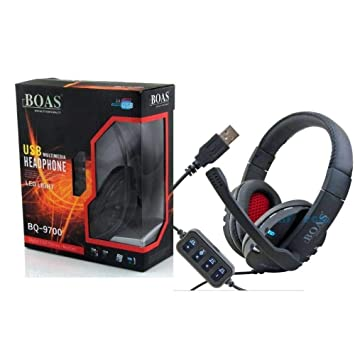 HF BQ - Cascos con micrófono (sonido estéreo, conexión USB, VoIP para juegos