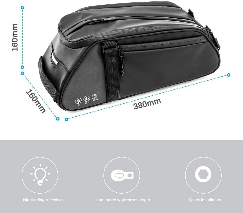 Achort Bolsa Trasera para Bicicleta Impermeable Multifuncional Alforja Trasera Bicicleta Bolsa de Hombro para Ciclismo al Aire Libre