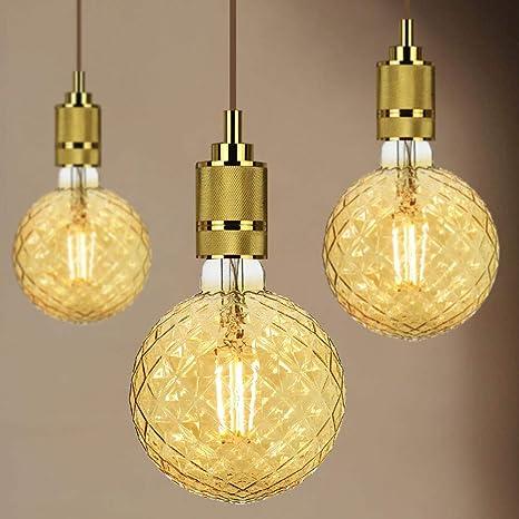 TIANFAN Edison - Bombilla LED (G125, 4 W, 220/240 V,