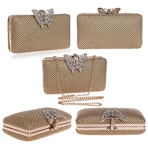Bags For Wedding Butterfly Body Clutches Silver Decoration Women's Bag Lady Chain Dress Rhinestone For Evening Cross Wristlets Cocktail Parties Bag Engagement 5FSqxZfwY