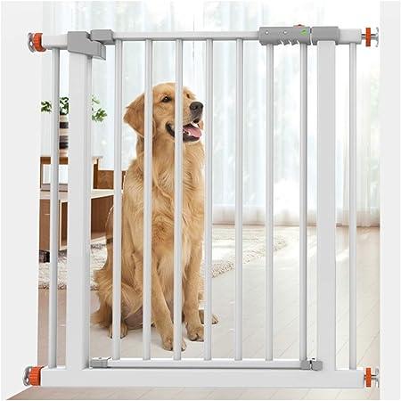 Valla Seguridad Barreras de puerta Puerta De Seguridad For Niños Cierre Automático De Bebé For Escaleras Dual Lock Walk Thru Ampliable Bar Perro De Mascota Valla De Protección De Escalera Barandilla D:
