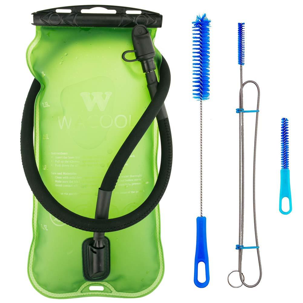 WACOOL 3L 3Liter 100oz BPA Free EVA Hydration Pack Bladder, Leak-Proof Water Reservoir (Green(Top Opening) with Clean Kit) by WACOOL