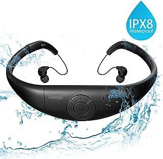 Tayogo Lettore MP3 Subacqueo 3m Nuoto 8GB IPX8 Hi-Fi Resistenza al calore 60 ° C per Nuoto Corsa Ciclismo Passeggiata Terme ecc (Nero)