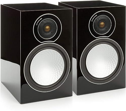 Monitor Audio – Silver Series 2-2-Way Compact Loudspeakers – Pair – Black Oak