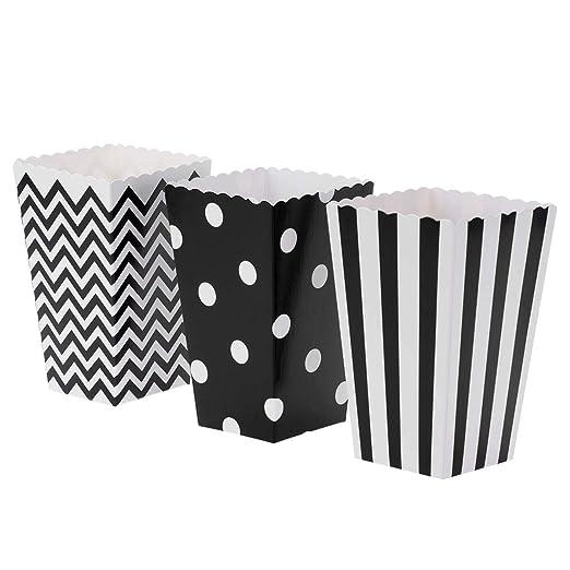 marco cajas de palomitas en Negro papel para Cumpleaños 30 ...