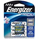 Energizer Ultimate Lithium AAA Batteries, World's Longest-Lasting AAA Battery in High-Tech Devices (4 pack)