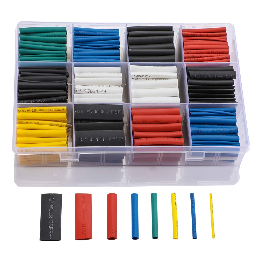 Best Rated In Car Amplifier Heat Shrink Tubing Helpful Customer Wrapping Wiring Harness Innhom 615pcs Ratio 21 Insulation Protection Flame Retardant Tube