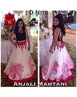 Fabzone Women's Banglori Silk Lehenga Choli (Big Rose Lehengha__Free)