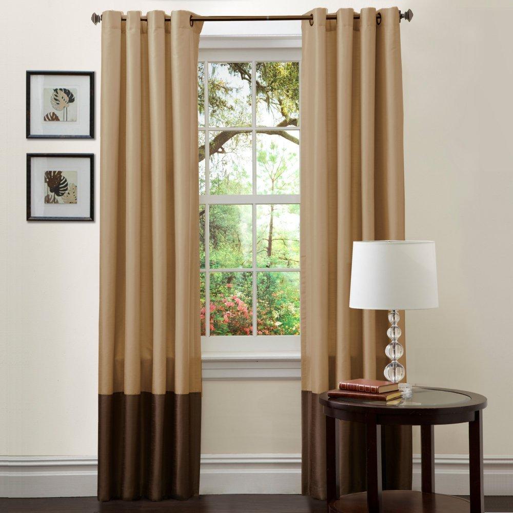 Awesome Amazon.com: Lush Decor Prima Window Curtain Panel Pair, 84 Inch X 54 Inch,  Brown/Rust, Set Of 2: Home U0026 Kitchen