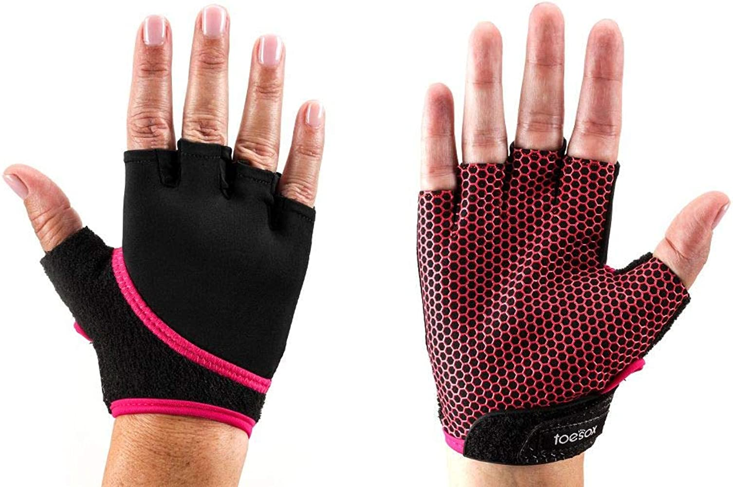 Toesox Hombre y Mujer 1 par Yoga de Media Dedos de Grip de ...