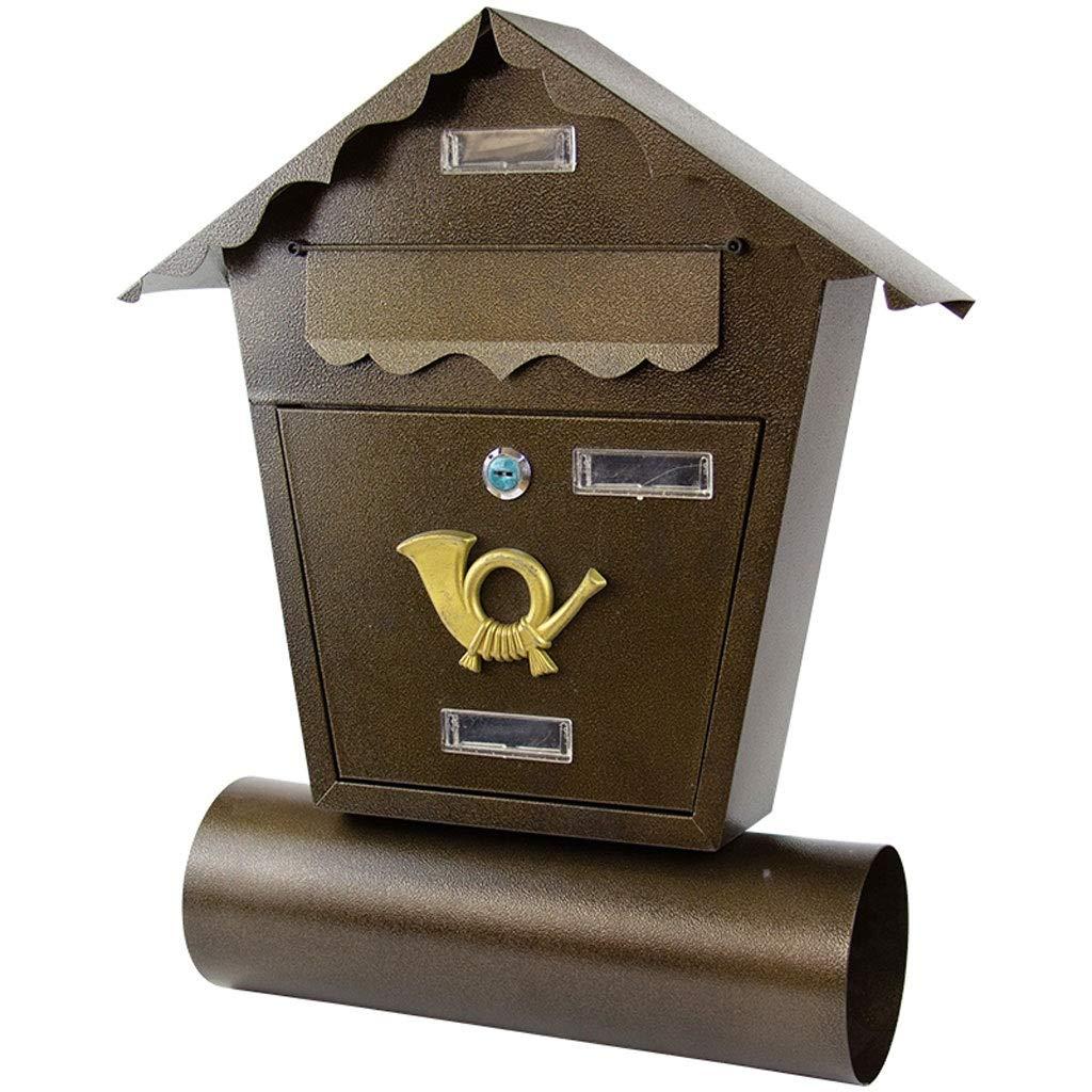 多機能メールボックス 紙の壁のタイプのレポート箱の郵便箱の新聞ホルダー - ブラック   B07M9CY2PZ