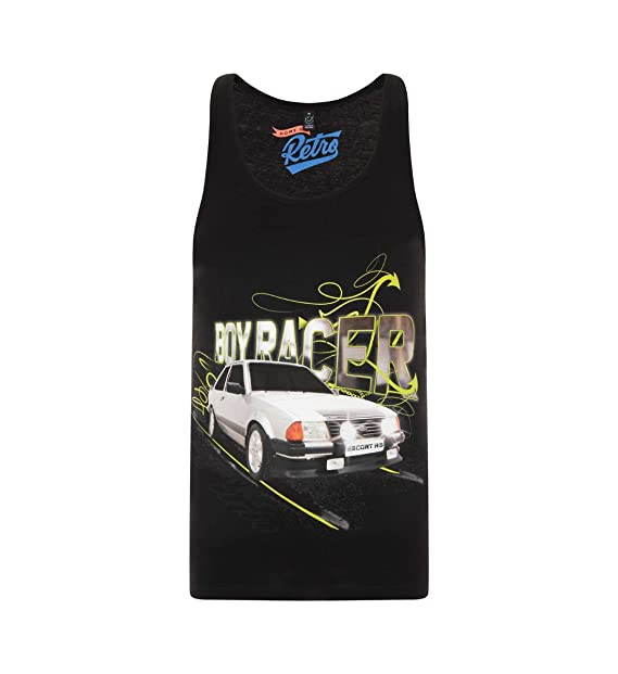 Home of Retro - Camiseta de Tirantes - para Hombre Negro Negro X-Large: Amazon.es: Ropa y accesorios
