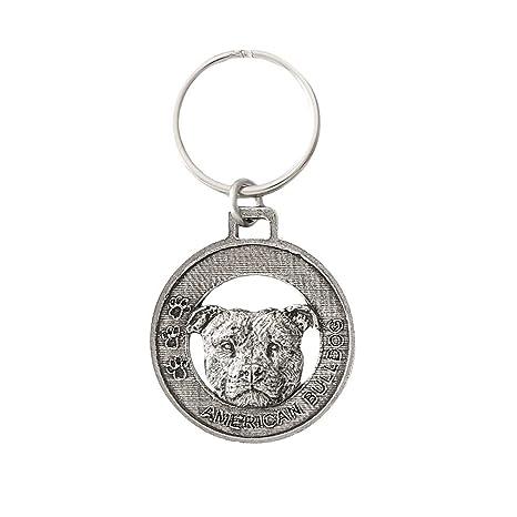 Amazon com: American Bulldog Pewter Key Chain, Key Fob, Key
