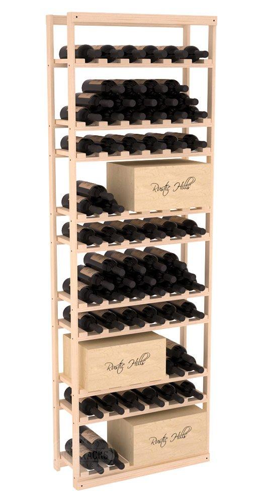 Wine Racks America Ponderosa Pine Baker Style Case/Bottle Kit. 13 Stains to Choose From!