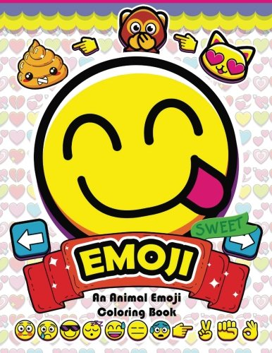 Emoji Coloring Book: Fun Emoji and Animal Designs, Collages and Funny]()
