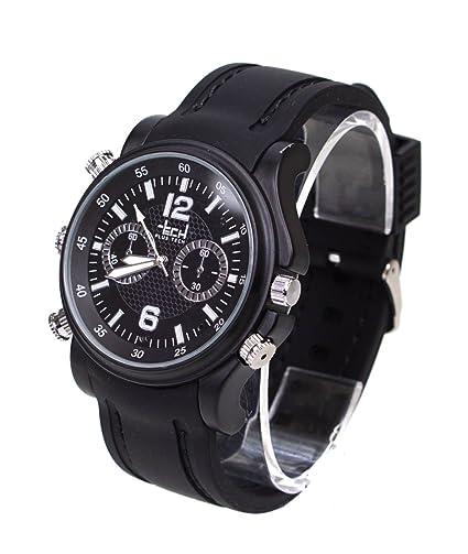 Plus Tech 4 GB de Hombre Negro Silicona Reloj cámara + grabación de vídeo y audio pt0958: Amazon.es: Relojes