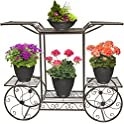 Sorbus 6 Tiers Garden Cart Stand & Flower Pot Display Rack