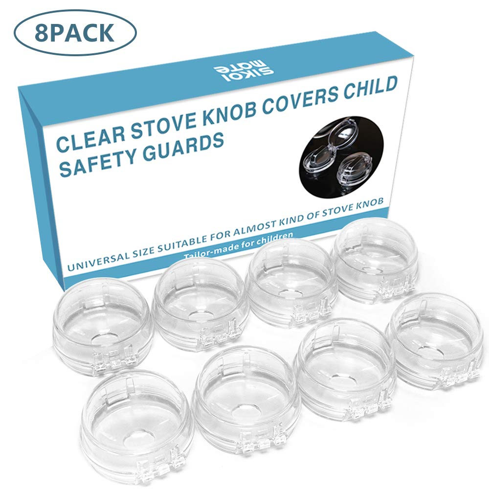 Stove Knob Covers for Child Safety, Universal Design Gas Stove Knob Safety Cover - 8 Pack Durable Baby Proofing, Child Proof Stove Knob Covers