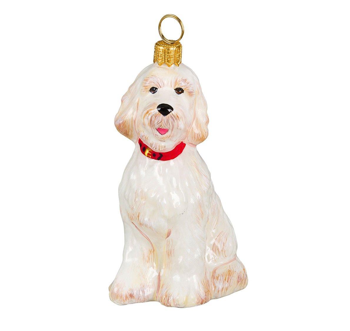 Joy-To-The-World-White-Goldendoodle-Sitting-Dog-Polish-Blown-Glass-Christmas-Ornament