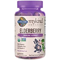 Garden of Life mykind Organics Elderberry Plant Based Immune Gummy - 120 Real Fruit...