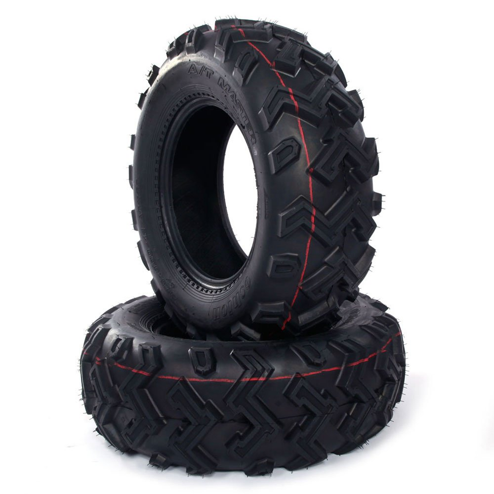 Set of 2 New ATV UTV Rear Tires 25x10-12 Rear 25x10x12, 6 Ply P306B