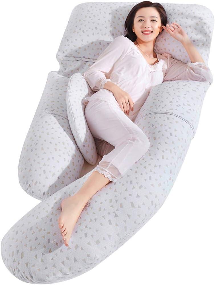 Pregnant Women Pillow Children'S Fence Waist Seite Sleeping Pillow U-Shaped Pillow Stomach Support Pillow Cushion Bedding Postpartum Breastfeeding Pillow (Color : White, Size : 1858020Cm)