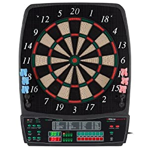 UItrasport Dartboard elektronisch, Classic Dartboard für 8 Spieler, 28...