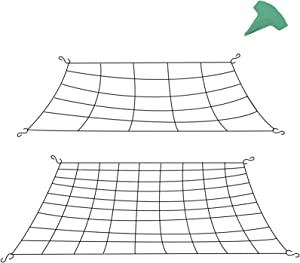 GROWNEER 2 Packs Flexible Net Trellis for Grow Tents, Fits 2.5x2.5 Feet, 3x3 Feet and More Size, with 8 Steel Hooks and 15 Pcs Plant Labels, 25 and 81 Growing Spaces
