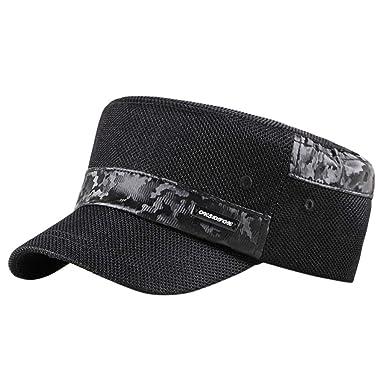Gorras de Hombre Plana, Gorras de Béisbol, Ajustable Algodón ...