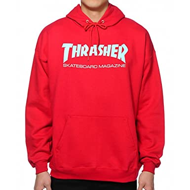 136f142f2e60 THRASHER SWEAT HOODIE SKATE MAG ANTIQUE RED - L  Amazon.co.uk  Clothing