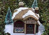 Miniature Fairy Garden House Victorian Village Christmas Bakery With Led Light