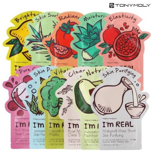 [TONYMOLY] I'm Real Mask Sheet for All Skin Types 11 (Sebum Control Lotion)
