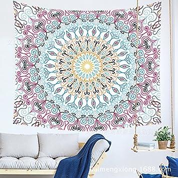 WandArtunique Tapiz de Pared Lona Tela Fondo Toalla Playa Dormitorio con Sala de impresión geométrica de