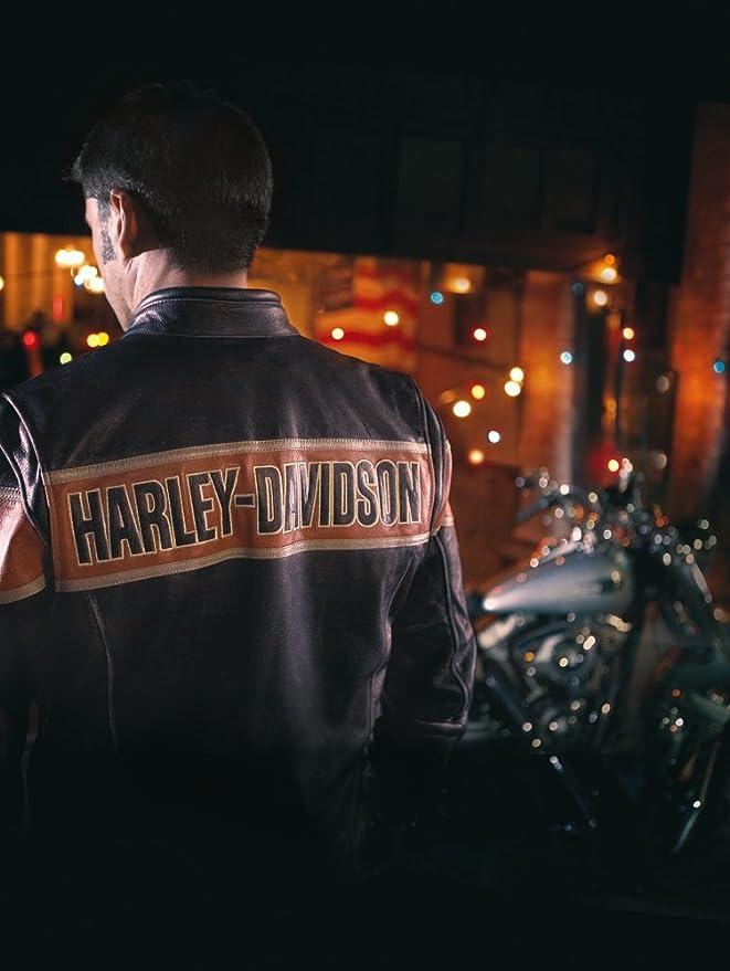 Chaqueta de cuero para hombre de Harley Davidson Victory ...