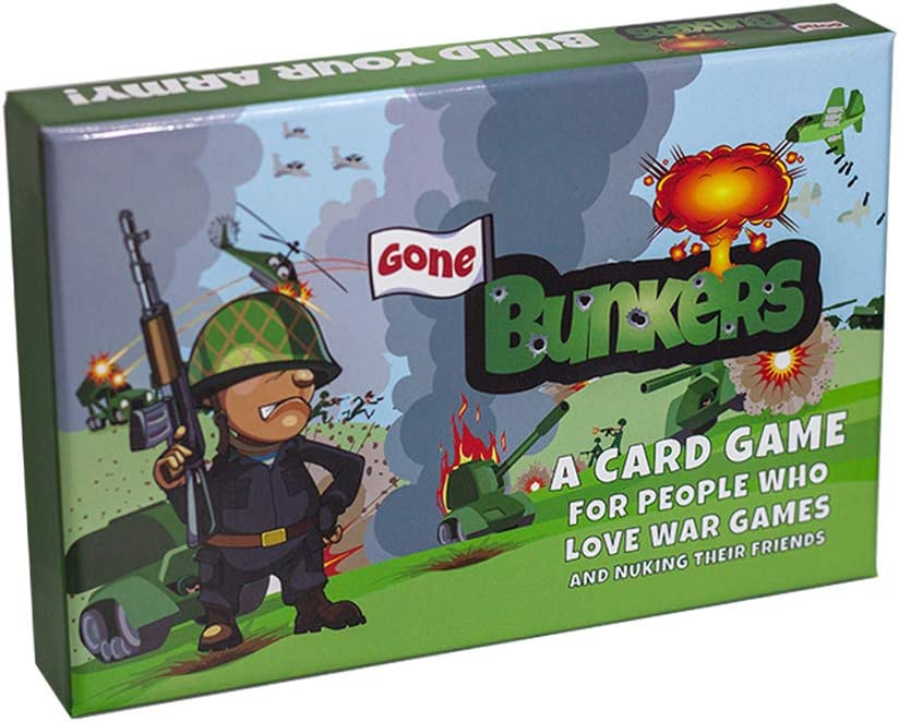 Gone Bunkers Card Game - Family-Friendly Party Games - Card Games for Adults, Teens, & Kids